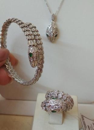 Шикарный серебряный комплект