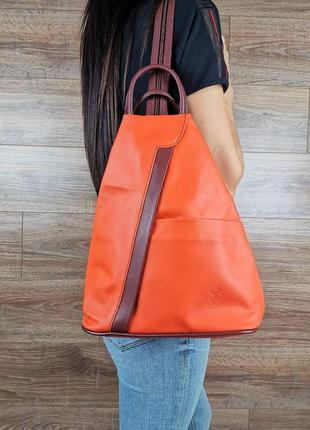 Оригинальный рюкзак vera pelle,натуральная кожа! италия!  лучшая цена!!!