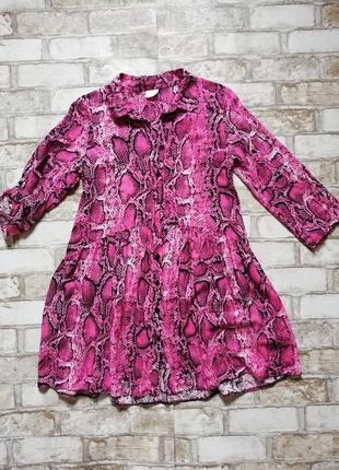 Платье в модный змеиный принт f&f kids 10-12лет