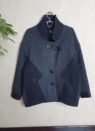 Крутое шерстяное пальто, полупальто от французкого бренда maje