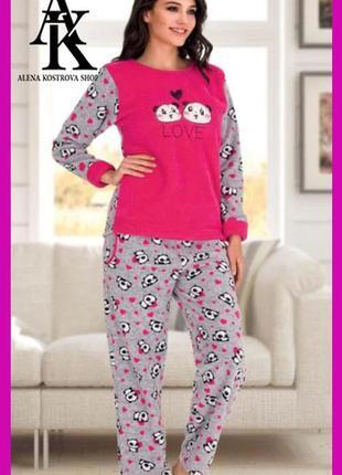 Уютная флисовая пижамка 60120 турция