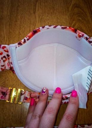 Minkpink купальник верх и низ новый цветной белый розовый оранжевый2 фото