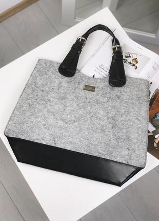 Войлочная сумка-шоппер hugo boss