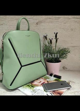 Женский городской рюкзак david jones 6261-2t зеленый