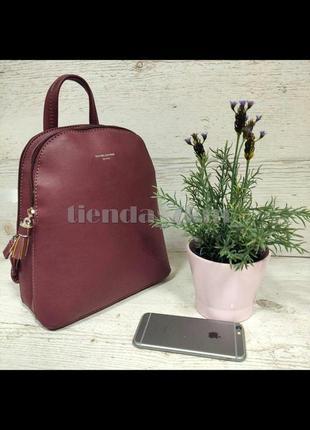 Женский городской рюкзак небольшого размера david jones cm5136t бордовый