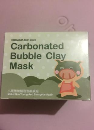 Маска пузырьковая очищающая корейская новыйcarbonated bubble clay mask