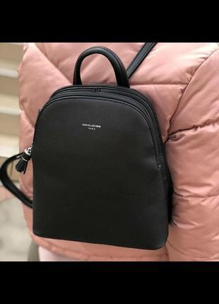 Женский городской рюкзак небольшого размера david jones cm5136t черный