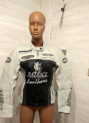 Женская кожаная мотокуртка polo ratrace 38-40