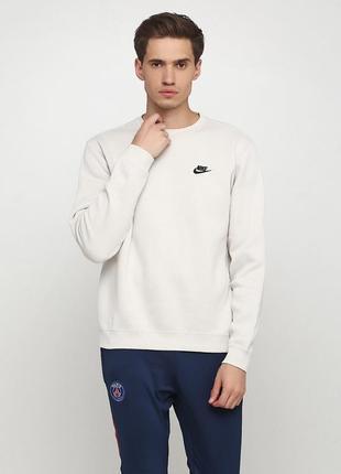 Кофта свитшот худи nike m sport wear crew fleece оригинал! - 35%