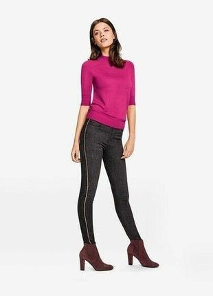 Черные джинсы с лампасами и легкими выбеленностями esmara германия