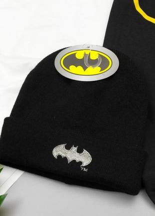 Черная шапка-бини batman