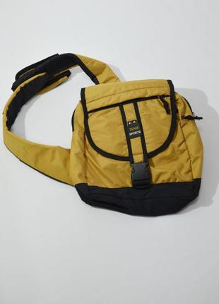 Детский горчичный рюкзак на одной лямке fortis.  код 2609