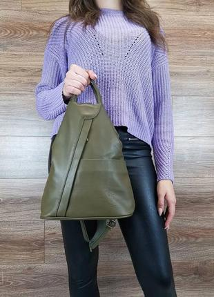 Оригинальный рюкзак vera pelle, натуральная кожа! италия! лучшая цена!!!