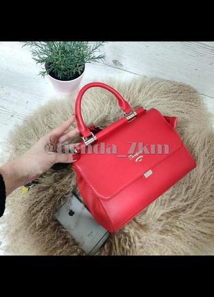 Стильная сумка через плечо / клатч david jones 5954-1t красный
