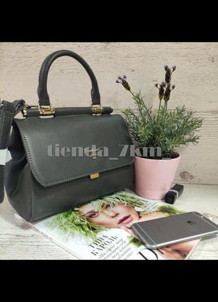 Стильная сумка через плечо / клатч david jones 5954-1t серый