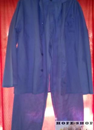 💞мужская пижама на пуговицах с брюками.м.распродажа