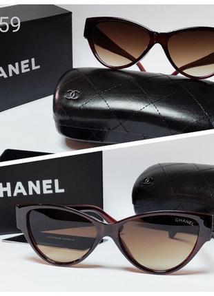 Женские очки солнце  коричневые лисички