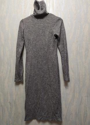 Тёплое платье гольф (водолазка)