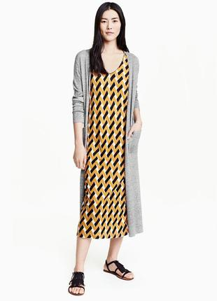 Стильное платье макси сарафан h&m m/l