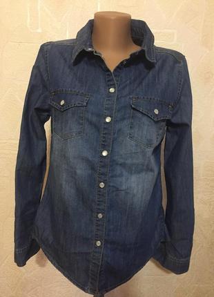 Рубашка new look8 р джинсовая.