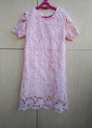 Ажурное платье y.d на 7-8 лет