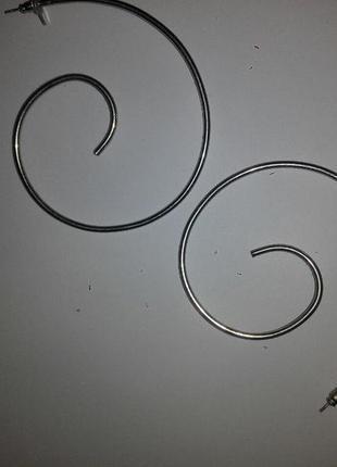 Серьги ,спирали