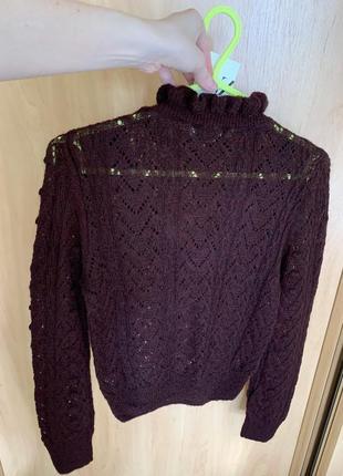 Новый бордовый свитер zara2 фото