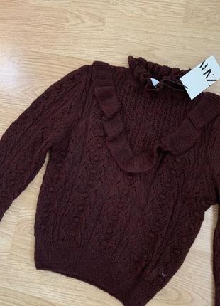 Новый бордовый свитер zara4 фото