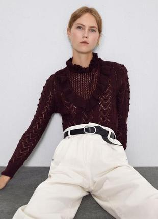Новый бордовый свитер zara7 фото