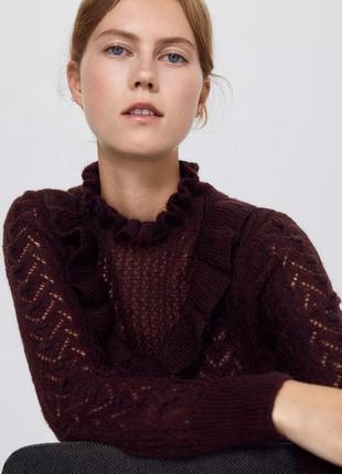Новый бордовый свитер zara8 фото