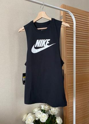 Nike черная хлопковая майка s