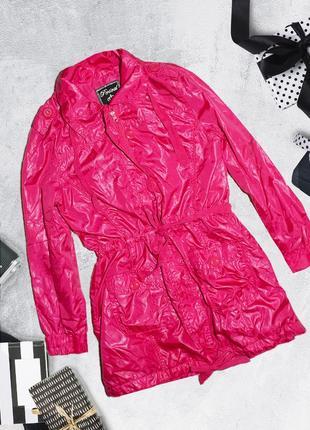 Розовая куртка ветровка с поясом persival