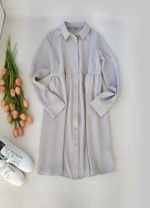 Шелковистое оверсайз платье рубашка от asos размер s-m-l