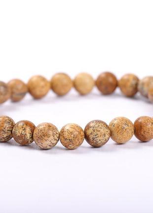 Стильный браслет из натурального камня яшмы