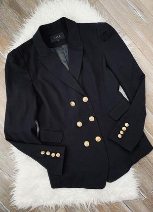 Стильный двубортный пиджак /жакет в стиле balmain
