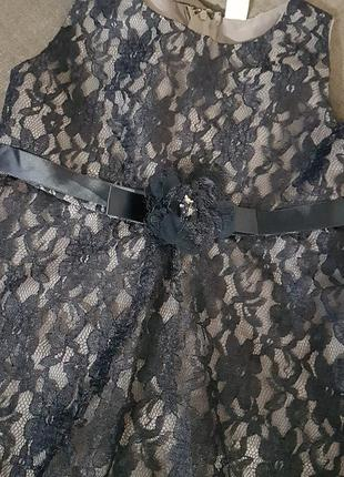 Нарядное платье глория джинс 6-7 лет рост 122