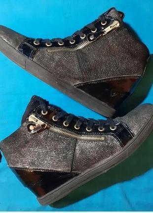 Ботинки сникерсы германия tamaris, кожа