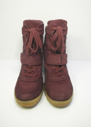 Женские замшевые ботинки сникерсы oxmox р. 37