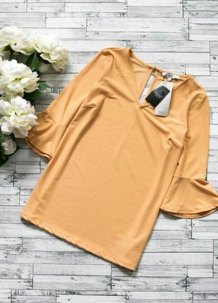 Нежная персиковая блуза