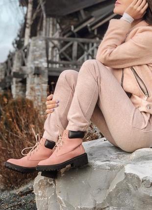 Стильные и мега удобные розовые ботинки stradivarius