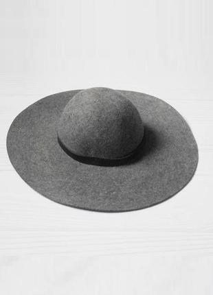 Шерстяная шетровая  шляпа h&m з широкими полями 🌺