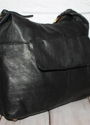 Вместительная кожаная сумка от topshop 100% натуральная кожа