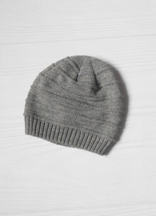 Вязаная шапка  с шерстью на флисе 🌺