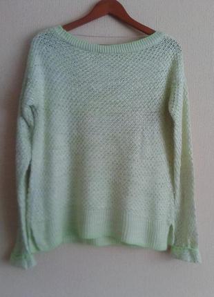 Фирменный вязанный свитер-джемпер-реглан-свитшет от atmosphere4