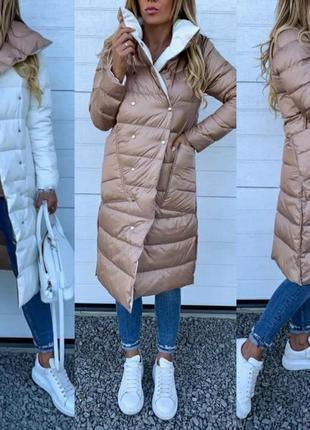 Стильный легкий весенний демисезонный пуховик плащ пальто на худенькую девушку
