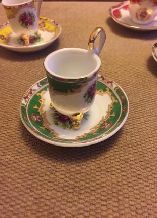 Коллекционные фарфоровые наборы, чашечка и блюдце