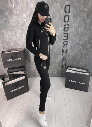 Женский спортивный костюм/черный женский костюм/женский костюм