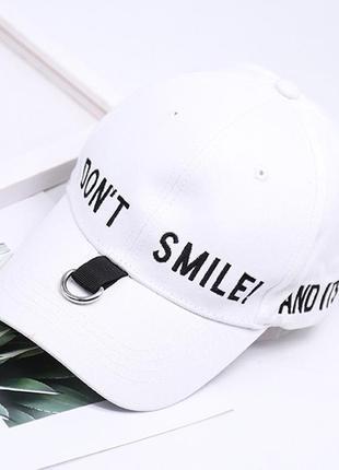 13-3 бейсболка don't smile модная кепка