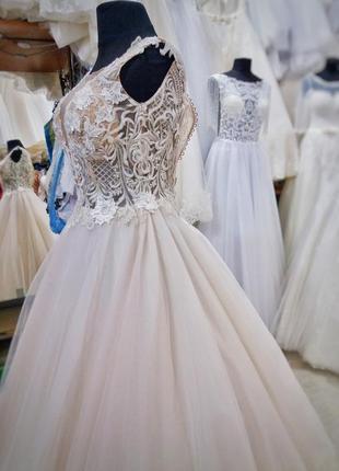 Нежное, елегантное свадебное платье