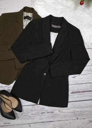 Удлинённый чёрный пиджак от zara